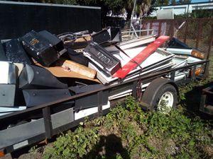 Single axle trailer full of scrap one tire has a slow leak for Sale in Jacksonville, FL