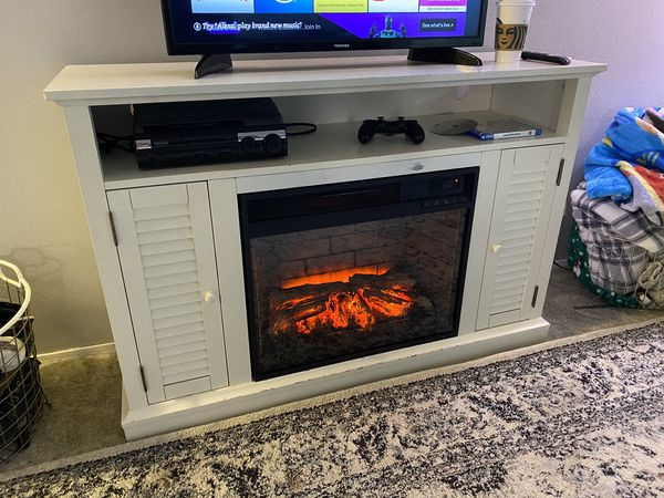 TV stand electric fireplace heater