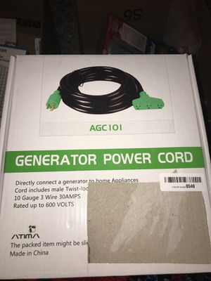 GENERATOR POWER CORD for Sale in Las Vegas, NV