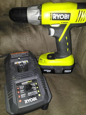 Ryobi 18V. Drill and battery and charger for Sale in McAllen, TX