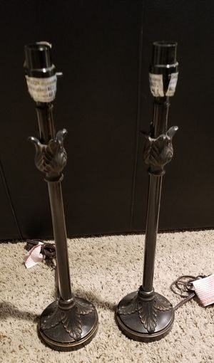 Set of 2 bronze leaf lamps (bases only) for Sale in The Colony, TX
