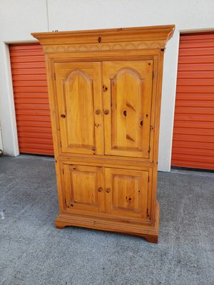 Pine Armoire for Sale in Fountain Valley, CA