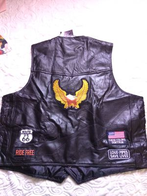 4x leather vest for Sale in Indianapolis, IN