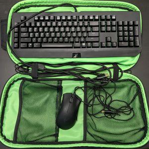 Razer Mechanical Keyboard & Mouse W/ Bag - Blackwidow Stealth, Deathadder for Sale in Everett, WA