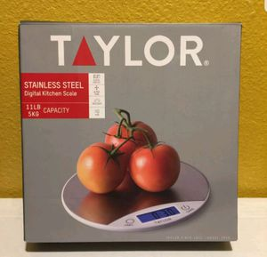Taylor Stainless Steel Digital Kitchen Scale 11LB/5KG Capacity Open Box New selling for only $15 for Sale in Long Beach, CA