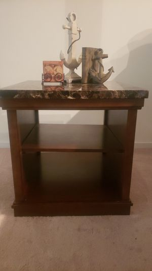 Side table. Nautical book ends and coasters too. for Sale in Seattle, WA