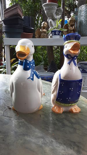 Ceramic duck picture and planter pair for Sale in Fort Lauderdale, FL