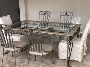 Dining table, 6 chairs, coffee table, 2 end tables for Sale in Trinity, FL