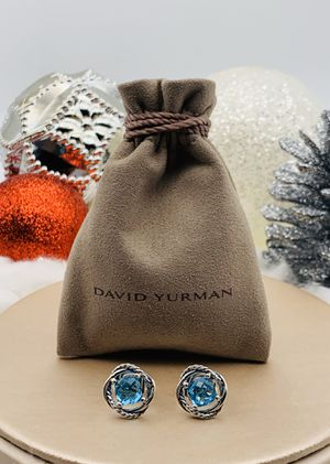 David Yurman Infinity Blue Topaz Earrings for Sale in Brooklyn, NY