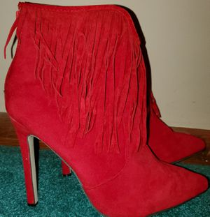 Red dress boots with fringe for Sale in Oak Lawn, IL