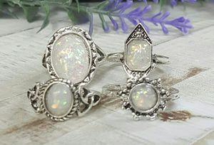 New, Size 6 Opal Vintage Bohemian Style Rings for Sale in Wichita, KS