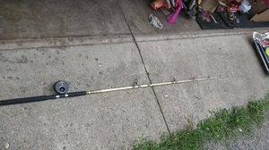 Mudville catmaster fishing pole with eagle claw 3095 fly fishing reel! for Sale in Grove City, OH