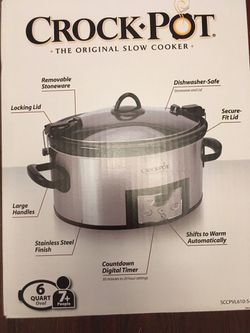 6 QT CROCK POT for THANKSGIVING for Sale in Pelham Manor,  NY