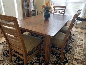 Esprit Decor solid oak dining set. for Sale in Chesapeake, VA