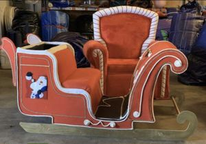 Big Santa Sleigh for Photo Booth pictures, Christmas Party Decorations (For Sale) for Sale in Clermont, FL