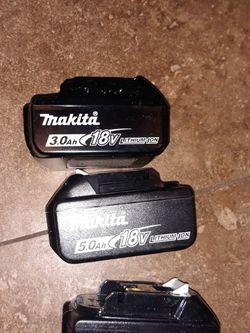 makita batteries $45 5.0 $35 3.0 for Sale in Houston,  TX