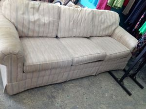 Beige and brown sofa bed for Sale in Tifton, GA