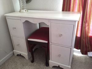 Shabby Chic, vintage, french country style antique desk / vanity for Sale in Seattle, WA