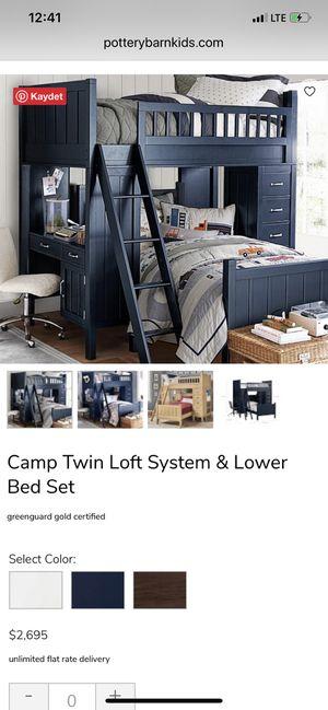 Pottery barn bunk bed set for Sale in Elmwood Park, NJ