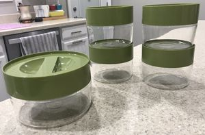 Pyrex Avocado Green Storage Canisters for Sale in San Antonio, TX