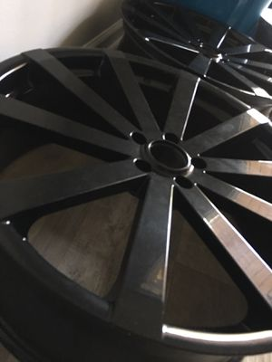 "22"" Inch Velocity VW12 Gloss Black Wheels Rims Only 