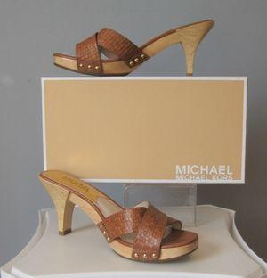 Michael Kors Sandal Amelie Luggage Mule Woman Size 7 for Sale in Corona, CA