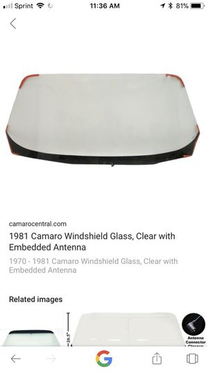 1970-1981 Camaro front glass windshield for Sale in Charter Township of Clinton, MI