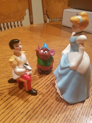 Disney porcelain Cinderella Prince Charming and Gus the mouse for Sale in Portland, OR