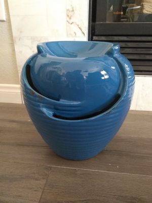 BLUE OUTDOOR TABLE TOP WATER FEATURE FOUNTAIN for Sale in Las Vegas, NV