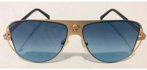 Versace Medusa Designer Gold Frame Blue Polarization Sunglasses for Sale in Lilburn, GA