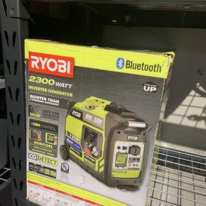 Ryobi 2,300-Watt Recoil Start Bluetooth Super Quiet Gasoline Powered Digital Inverter Generator with CO Shutdown Sensor Brand new for Sale in Tacoma, WA