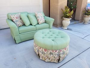 Loveseat & matching Ottoman for Sale in Winchester, CA