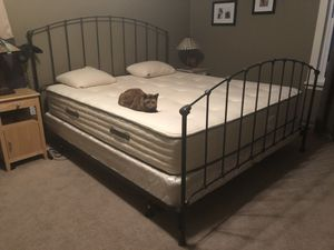 King sized bed frame with box springs for Sale in Yakima, WA