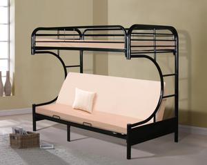 Ashley Erica Black Metal Twin/Futon Bunk Bed | 4480 for Sale in Arlington, VA