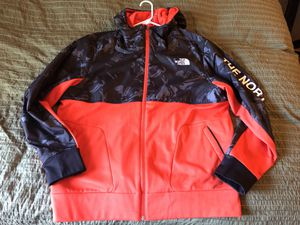 The North Face Jacket Hoodie Camo Black Orange XL for Sale in San Diego, CA