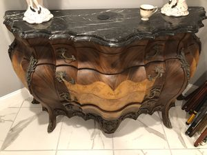 Marble antique oil painted furniture for Sale in Baltimore, MD