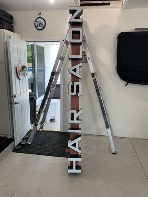 Led hair salon sign 8ft x 8 1/2 wide for Sale in Addison, IL