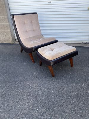 Mid Century Accent Chair and Ottoman for Sale in Phoenix, AZ