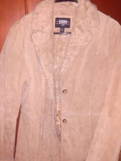 Suede-Leather-B. Moss- Women's Tan Jacket Medium Size In for Sale in Columbia,  TN