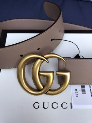 Gucci Belt Marmont Dusty Pink with Gold Brass buckle New Unisex for Sale in New York, NY