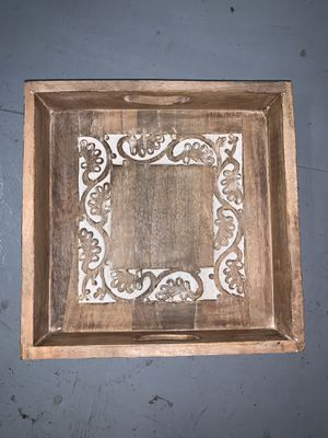 Decorative Wood Tray for Sale in Cypress, CA