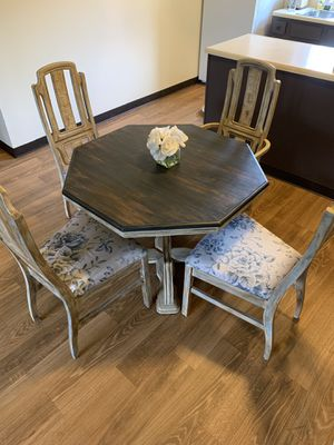 Dining Room Table + 4 Chairs for Sale in Bloomington, IL