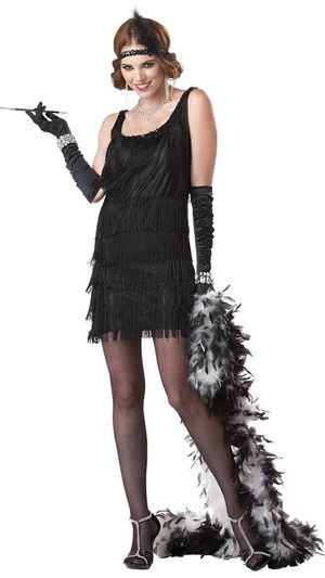 Fashion flapper adult costume for Sale in Los Angeles, CA