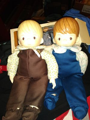 1979 precious moments twin dolls cannot find them online they're so rare for Sale in Kent, OH
