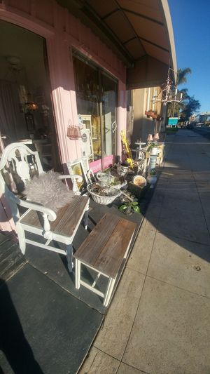 Modern shabby chic super sidewalk sale on all these antiques all day for Sale in San Diego, CA
