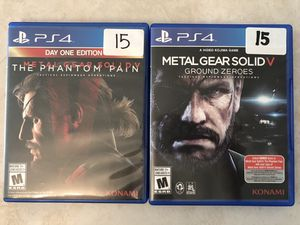 PlayStation 4 / PS4 games metal gear solid 5 $15 each for Sale in Phoenix, AZ