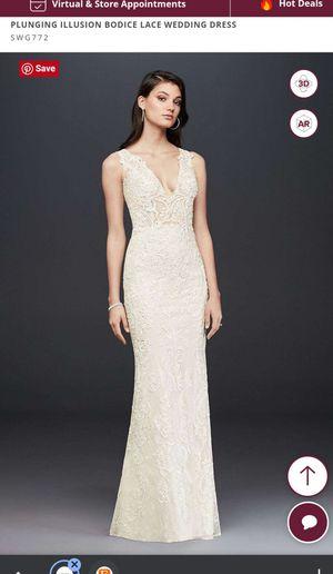 Galina Signature Plunging Illusions Wedding Dress for Sale in Alexandria, VA
