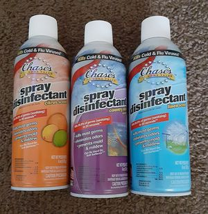 CHASE DISINFECTANT SPRAY! KILL THE GERMS! KILL THE VIRUS! $2.50 FOR EACH CAN $25 FOR A CASE! 12 CANS IN A CASE!! for Sale in Stanton, CA