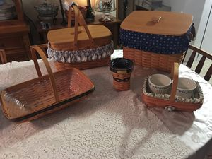 Longaberger baskets for Sale in Greensboro, NC