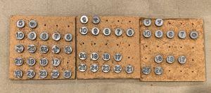 Vintage Metal Numbers Repurpose Architectural Salvage Window Door Screen! for Sale in Lemont, IL